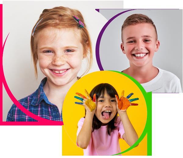 three children logo, pediatric dentistry pasadena tx