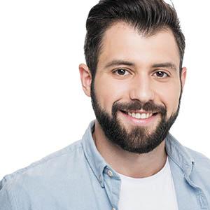 man smiling, teeth whitening services pasadena texas