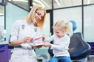child learning about pediatric dentistry